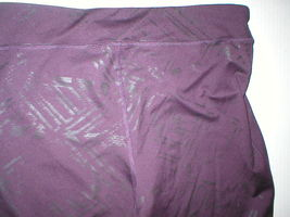 Womens Leggings C9 Champion Pants L Run Pilates Yoga Dark Purple Black Foil image 4