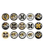 "Missouri Tigers MIZZOU 1"" Bottle Cap Image Shee... - $2.00"