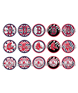 "MLB Boston Redsox 1"" Bottle Cap Image Sheet (4x... - $2.00"