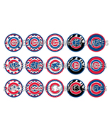 "MLB Chicago Cubs 1"" Bottle Cap Image Sheet (4x6... - $2.00"
