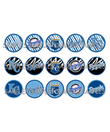"MLB Kansas City Royals Zebra 1"" Bottle Cap Imag... - $2.00"