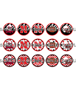 "Nebraska Corn Huskers 1"" Bottle Cap Image Sheet... - $2.00"