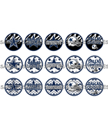 "NFL Dallas Cowboys 1"" Bottle Cap Image Sheet (4... - $2.00"