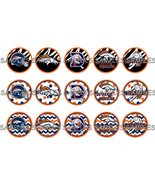 "NFL Denver Broncos 1"" Bottle Cap Image Sheet (4... - $2.00"