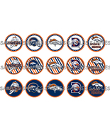"NFL Denver Broncos 2 1"" Bottle Cap Image Sheet ... - $2.00"