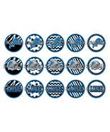 """NFL Detroit Lions 1"""" Bottle Cap Image Sheet (4x... - $2.00"""