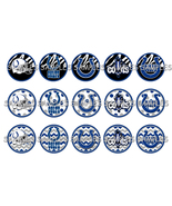 "NFL Indianapolis Colts 1"" Bottle Cap Image Shee... - $2.00"