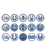 "NFL Indianapolis Colts 2 1"" Bottle Cap Image Sh... - $2.00"