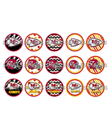 "NFL Kansas City Chiefs 1"" Bottle Cap Image Shee... - $2.00"