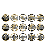 "NFL New Orleans Saints 1"" Bottle Cap Image Shee... - $2.00"
