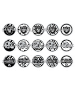"NFL Oakland Raiders 1"" Bottle Cap Image Sheet (... - $2.00"