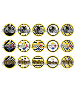 "NFL Pittsburgh Steelers 1"" Bottle Cap Image She... - $2.00"
