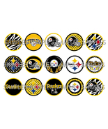 "NFL Pittsburgh Steelers 2 1"" Bottle Cap Image S... - $2.00"