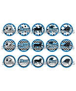 "NFL Carolina Panthers 1"" Bottle Cap Image Sheet... - $2.00"
