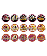 "NFL Washington Redskins Zebra 1"" Bottle Cap Ima... - $2.00"