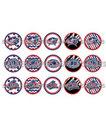 "NHL Columbus Blue Jackets 1"" Bottle Cap Image S... - $2.00"