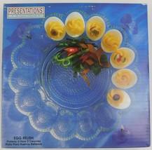 "Indiana Glass Presentation Crystal Collection 11"" Egg Relish Platter 5452 - $24.75"