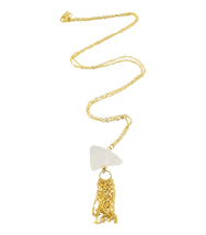 Long Gold Tassel Necklace - $42.00