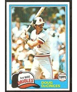 1981 Topps Baseball Card # 188 Baltimore Orioles Doug DeCinces nr mt - $0.50
