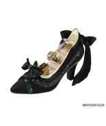 Black Satin Shoe Jewelry Display Ring Holder NIB A - $19.99