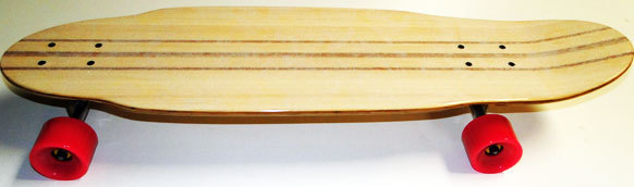 "100% 5-ply Bamboo Kicktail Cruiser Skateboard Longboard Complete 9.5"" x 34.5"""