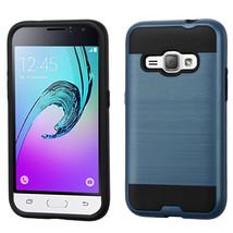 Matte Hybrid Armor Cover Case for Samsung Galaxy J1 2016 /  Amp 2 - Navy... - $4.99