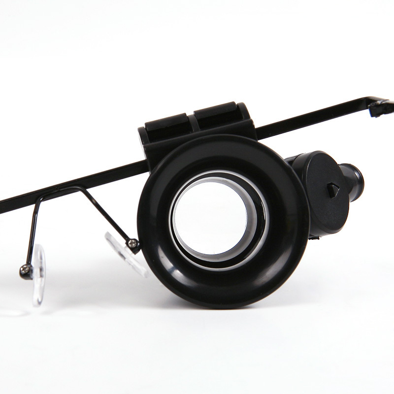 new 20x repair magnifier magnifying led light eye glasses loupe lens. Black Bedroom Furniture Sets. Home Design Ideas