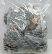 Coins Sets of 44 Lot of 20 Individual Student Manipulative ETA Cuisenair... - $24.74