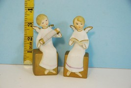 Vintage ART Christmas Musician Angels Hand Painted Made in Japan - $17.90