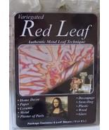 Variegated Red Leaf Gold Leaf Sheets - $4.50