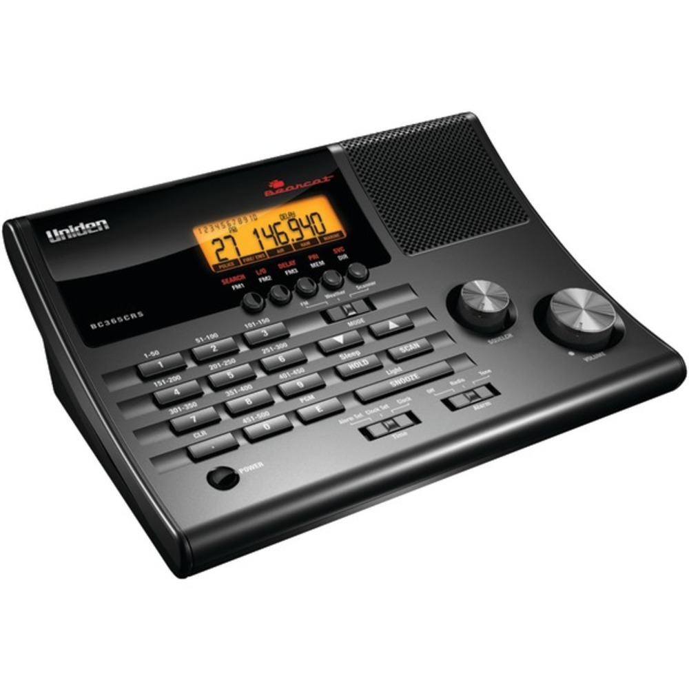 Uniden BC365CRS Alarm Clock 500-Channel Radio Scanner with Weather Alert - $114.41
