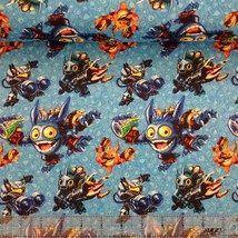 "Skylanders Character Toss Camelot 100% cotton Fabric Remnant 33"" - $9.79"