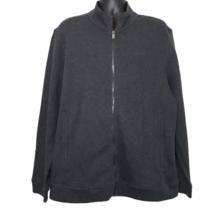 Tasso Elba Mens Gray Heather Knit Full Zip Long Sleeve Mock Neck Jacket ... - $54.88