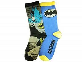 DC Comics Batman Men's Crew Socks 2 Pr New Size 6-12 - $9.28