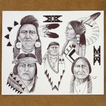 Navajo Native American Print Drawing Various Chiefs Limited Edition - $69.00