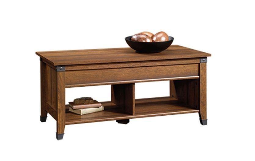 Wood Rustic Coffee Table Desk Living Room Furniture Den