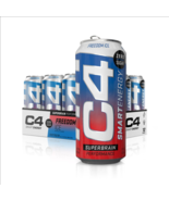 C4 Smart Energy Superbrain Performance Fuel 16 ounce cans Freedom Ice, 1... - $39.59