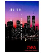 TWA Airlines (Howard Hughes) Vintage New York A... - $19.95