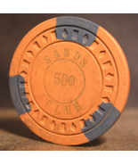 """$0.50 Casino Chip From: """"The Sands Club""""- (sku#2797) - $2.99"""