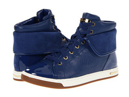 Michael KORS URBAN BLUE MK LOGO FOLDED ICONIC HIGH TOP SNEAKERS - $129.00