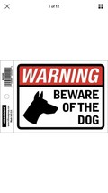 "Beware Of The Dog Security Precaution 6""X4"" Decal, Durable Vinyl, Sign >... - $5.26"