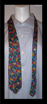 FOOTBALL Silk Neck Tie - by The Gap - Imported from ITALY - FREE SHIPPING - $25.00