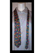 FOOTBALL Silk Neck Tie - by The Gap - Imported from ITALY - FREE SHIPPING - £20.07 GBP