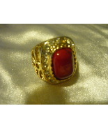 HAUNTED MALE VAMPIRE CORAL SIZE 8 RING SEEKS A TRUE KEEPER OPEN HEART - $550.00