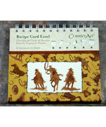 Western Recipe Card Easel and Recipe Cards with Cowboys and Horses - $10.98