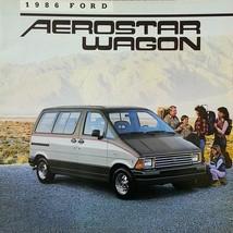 1986 Ford AEROSTAR WAGON sales brochure catalog US 86 XL XLT - $6.00