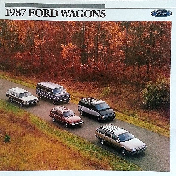 1987 Ford WAGONS brochure catalog US 87 ESCORT AEROSTAR TAURUS COUNTRY SQUIRE