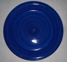 (1) Ciara Swirl Spectrum Blue Handpainted Dinner Plate - $27.09
