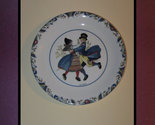 "RORSTRAND - SWEDEN Porcelain 7 1/2 "" Collector PLATE - Swedish National Costumes"