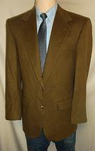 "D23 42 L 100% Cashmere Blass Blazer Sport Coat Jacket Mens 25.5"" Arm Brown Coffee - $154.62"